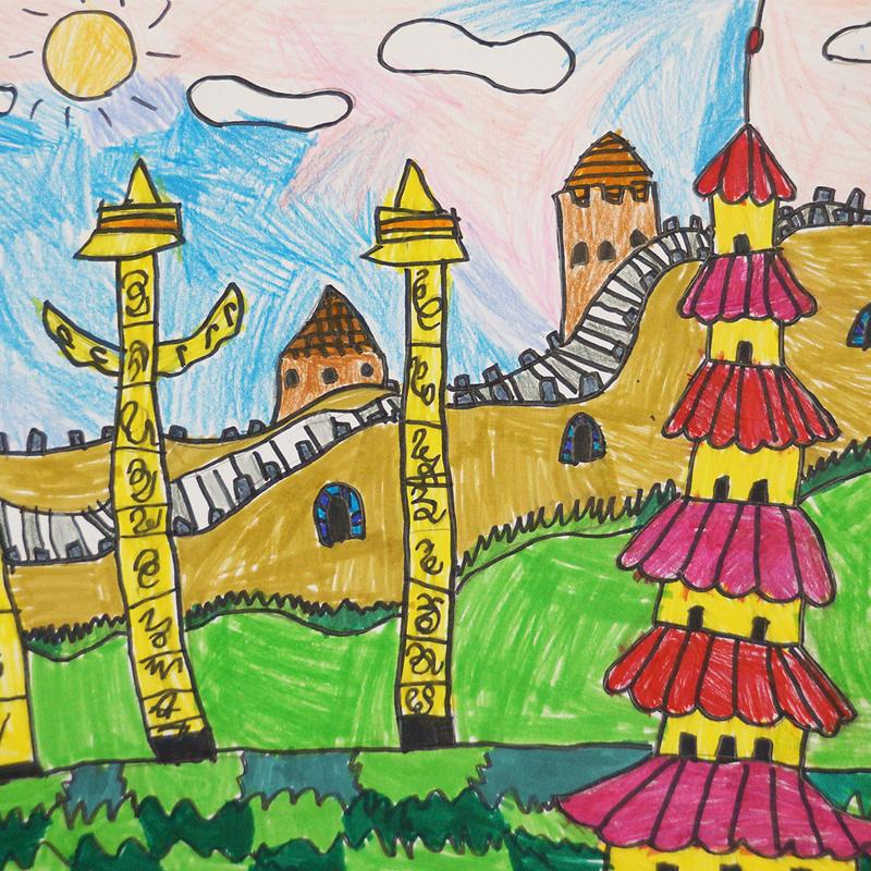 """""""Великата китайска стена"""", Йоанна Маринова, 8 г., Варна"""
