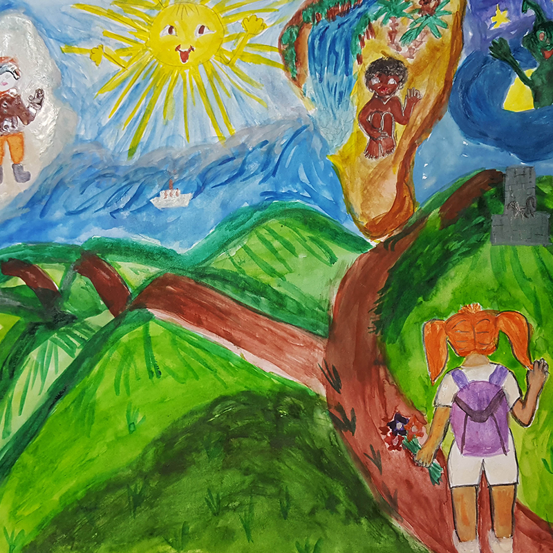 """""""Приятели, да ви запозная с България"""", Дарианна Кибарева, 7 г., с. Устина"""