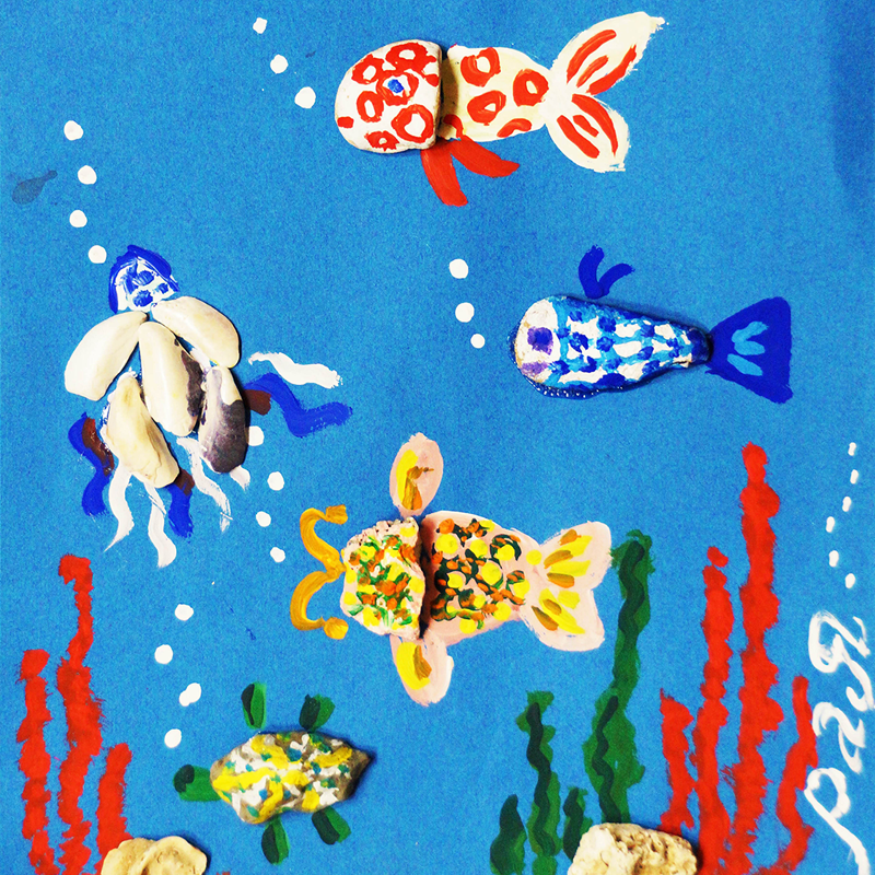 """""""Морско дъно"""", Рая Тасева, 5 г., Несебър"""