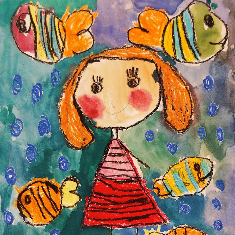 """Сред рибките в Индийския океан"", Соня Иванова, 6 г., Бургас"