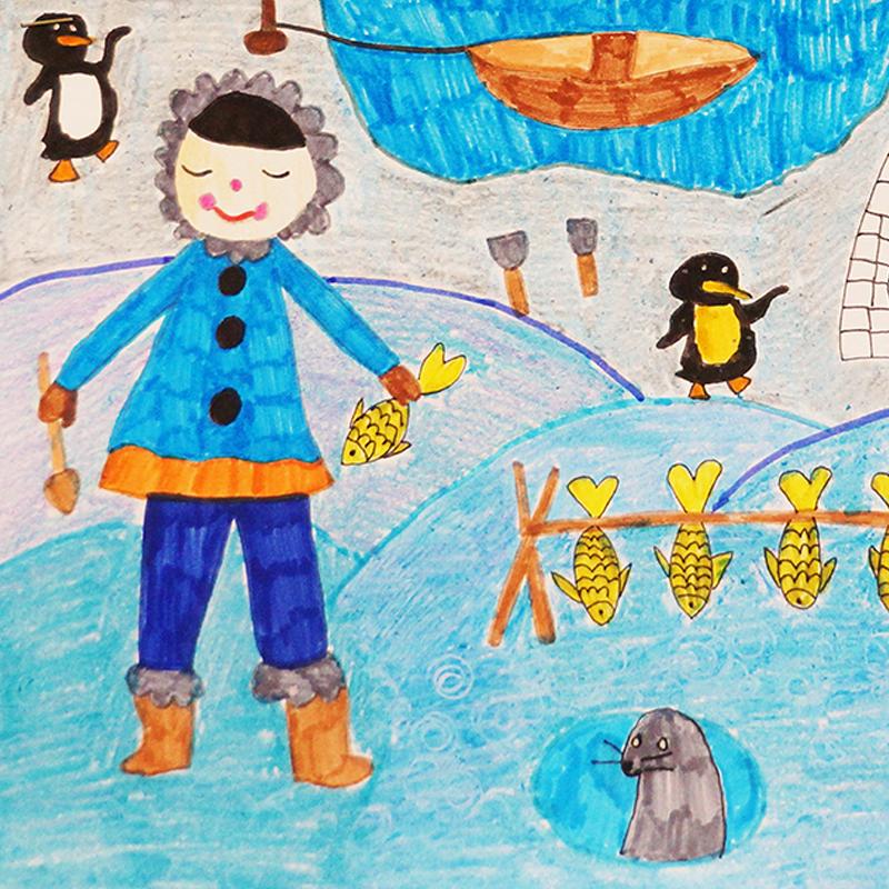 """На северния полюс"", Кристалина Гечева, 6 г., Плевен"