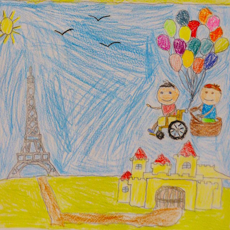 """""""Вълшебно пътешествие с приятел, Франция"""", Йоан Цонев, 6 г., Габрово"""