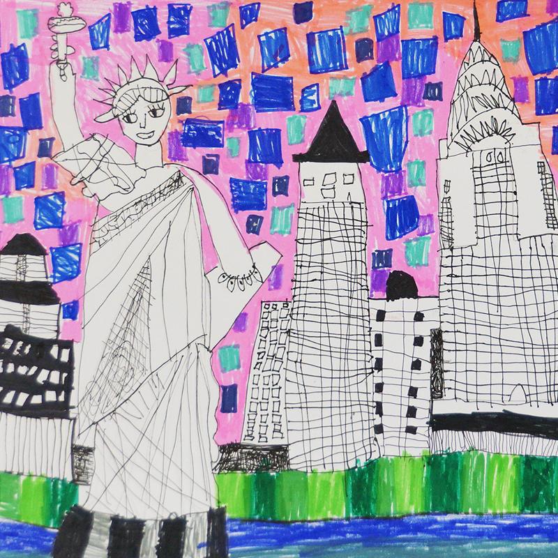 """""""Ню Йорк, САЩ"""", Даника Чакърова, 6 г., Варна"""