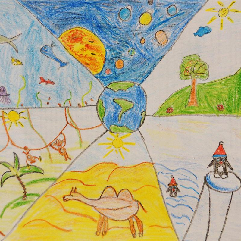 """""""Моето пътешествие около света"""", Емил Пенков, 6 г., София"""